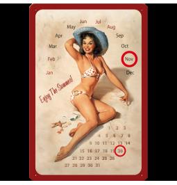 Metallskylt kalender 20x30 cm